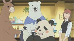 アニメ しろくまカフェ - Google 検索 Polar Bear Cafe, Polar Bears, Cute Guys, Manga Anime, Family Guy, Fan Art, Illustration, Fictional Characters, Google