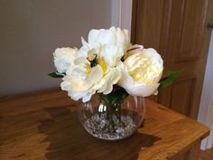 PRETTY ARTIFICIAL PEONY BOWL FLOWER ARRANGEMENTS IN STILL WATER VARIOUS COLOURS