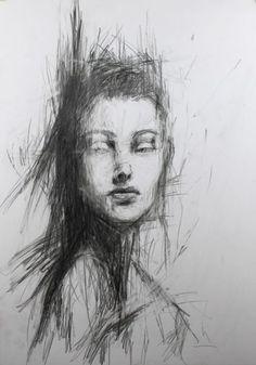 abstraktes portrait von nathalie ziegler
