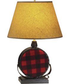Buffalo Check Canteen Table Lamp | Woolrich® The Original Outdoor Clothing Company