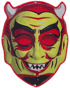 RETRO A GO GO EL DIABLO DEVIL MASK TIN SIGN