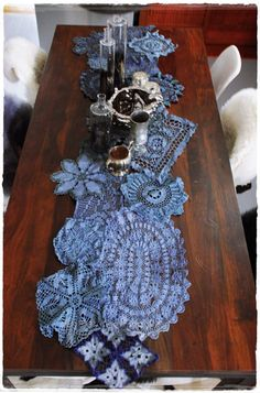 desire to inspire - kim's page - dye doilies runner
