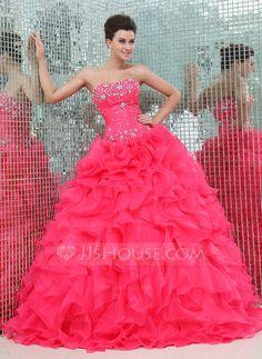 Corte de baile Escote corazón Vestido Organdí Satén Vestido de quinceañera con Bordado Cascada de volantes Color: Como en la foto Link: http://www.jjshouse.com/es/Corte-De-Baile-Escote-Corazon-Vestido-Organdi-Saten-Vestido-De-Quinceanera-Con-Bordado-Cascada-De-Volantes-021017439-g17439