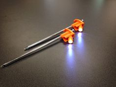 These tent pegs have LED lights in them. No more tripping over the guy lines of your tent! http://50campfires.com/coghlans-led-tent-pegs/ #camping #tent #LEDpegs