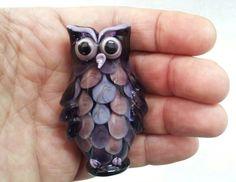 Largest lampwork owl I made so far - Johan de Lange