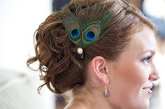 If my hair is long enough, this will be my hair style. Including peacock pin.