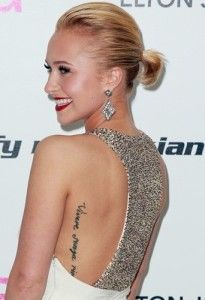 hayden panettiere tattoo- love her tattoo placement!
