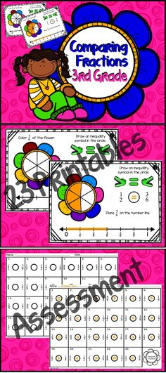 """Comparing Fractions """"Fractions on a Number Line"""" Grade) 3rd Grade Fractions, Third Grade Math, Math Fractions, Grade 3, Maths, Teaching Time, Teaching Math, Teaching Ideas, Fun Math"""