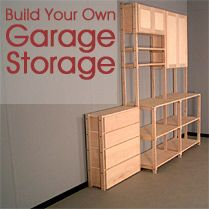 Design your garage storage