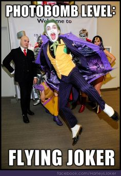Joker Cosplay by Anthony Misiano / Harley's Joker | Photobomb Level: Flying Joker