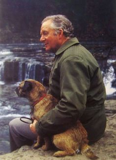 I don't think any of my other dogs would be too upset if I said that no dog has ever given me so much joy as Bodie. - Arthur James Heriort with Dog, Bodie.