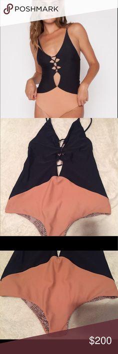 Acacia Swimwear Kokomo storm/topless Acacia Kokomo storm and topless. Great condition. Only worn twice. Sold out everywhere acacia swimwear Swim One Pieces