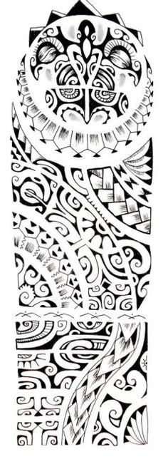 New Polynesian Sleeve Tattoo Design