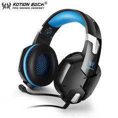 KOTION EACH G1200  Gaming Headphones with Microphone 3.5mm Plug Stereo Headset for PC Laptop Cell Phone Fones De Ouvido #Affiliate