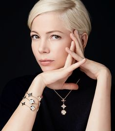 """Michelle Williams for the """"Louis Vuitton"""" Jewellery Blossom Collection - (2017)"""