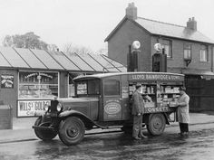 size: Photographic Print: Mobile Confectionery Shop, a 1932 Bedford Ws Lorry, : Vintage Trucks, Old Trucks, Wheeler Dealers, Truck Transport, Sailing Regatta, Beach Landscape, Commercial Vehicle, Frame Shop, Confectionery