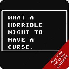 Horrible Night For A Curse T Shirt Funny Gamer Geek NES Nerd Emo Club Video Tee