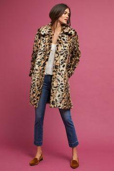 Anthropologie Leopard Print Coat