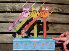 Colourful & very cute paper automata!