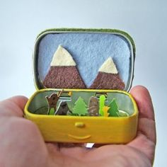 Peek inside to see a tiny Sasquatch family frolicking in the woods. We have one for a Yeti and Nessie too!