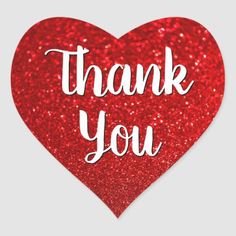 Shop Calligraphy Thank You Red Glitter Bokeh Heart Sticker created by annaleeblysse. Thank You Messages Gratitude, Thank You Wishes, Thank You Greetings, Thank You Note Cards, Happy Birthday Flower, Birthday Thank You, Thank You Poster, Thank You Images, You Are Welcome Images