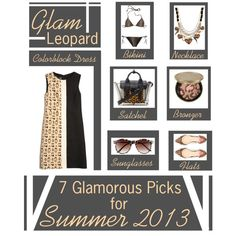 """""""Glam Leopard Summer 2013 Edition"""" by latoyacl on Polyvore"""