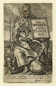 "Puget de la Serre, ""The Mirrour which flatters not"" *1639) frontispiece engraved by John Payne,"