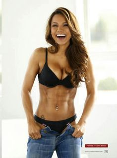 Love the happy shots of fit girls.... they always look so serious in pictures. again serious workout body motivation for me.