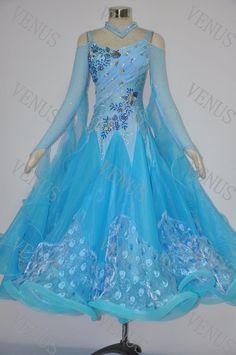 LATIN RHYTHM SALSA BALLROOM COMPETITION DANCE DRESS - SIZE S, M, L (2846) #VenusDancewear