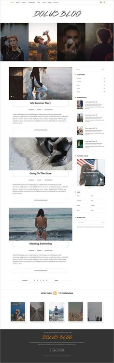 Dolus blog is clean and modern #Bootstrap #HTML template for creative #blogger website with 4 unique homepage layouts download now➩ https://themeforest.net/item/dolus-blog-html5-template/18667640?ref=Datasata