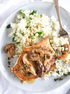 Chicken Breasts with Creamy Mushroom Sauce | foodiecrush.com