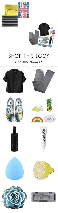 """""""{There's Always Something to Hide}"""" by banoffz ❤ liked on Polyvore featuring Margaret Howell, Comptoir Des Cotonniers, Kenzo, Eye Candy, St. Tropez, Benefit, Big Bud Press, Dot & Bo and Lime Crime"""