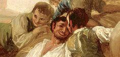"""Detalle de """"La Era o El Verano"""" de Francisco de Goya y Lucientes, 1786, cartón para tapiz. Museo Lázaro Galdiano"""