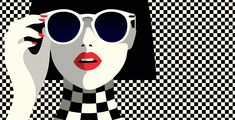 ALDO checkers // illustration Malika Favre