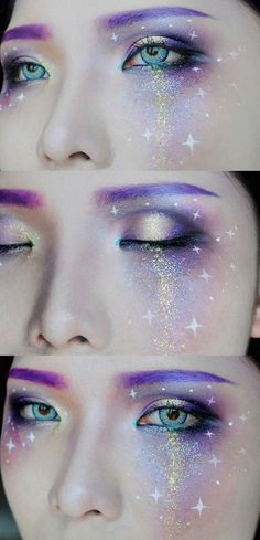 augenbrauen lila galaxy augen make up augenbrauen lila galaxy augen make up Related posts: Make-up Gold Eyeliner natürlichen Make-up Look Party Make-up whereetoget.it fasching schminke glitzer augen make up gold sternchen Sfx Makeup, Cosplay Makeup, Costume Makeup, Beauty Makeup, Makeup Brush, Makeup Eyebrows, Fashing Make Up, Space Make Up, Makeup Inspo
