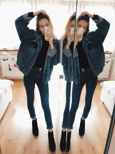 #fashion #denim #heels #autumn