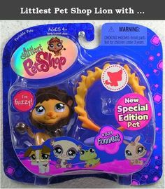 Littlest Pet Shop Lion with Flaming Hoop and Crown #809. Let this cute and fuzzy Special Edition lion pet into your LITTLEST PET SHOP collection with a roar! Help this king of the forest jump through his ring of fire to demonstrate his bravery or strut around in his crown to show off for his favorite person -- you! Pet comes with ring of fire and crown accessories. Funniest Pet #809.
