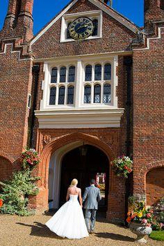 Gosfield Hall wedding venue in the sunshine