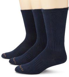 Carhartt Men's Work Wear Flat Knit 3 Pack Crew Socks