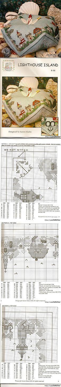 """Бискорню """" Маяк """" - схема для вышивки крестом.."""