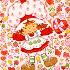 Classic Strawberry Shortcake - Valentines and Sweets Strawberry Shortcake Cartoon, Hello Kitty, Rainbow Brite, Holly Hobbie, 80s Kids, Old Cartoons, Paper Dolls, Childhood Memories, Childhood Toys