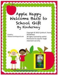 Apple Happy Welcome Back to School Gift FREEBIE!