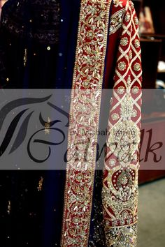 embroidery closeup Whatsapp me 00923064010486 Zardozi Embroidery, Gold Embroidery, Pakistani Wedding Outfits, Pakistani Dresses, Desi Wedding, Wedding Wear, Maria B Bridal, Bridle Dress, Semi Formal Wedding