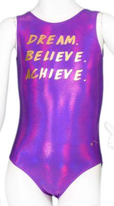 Purple Dream Believe Achieve Leotard #leotards #leotard #gymnast #gymnastics #holidayleotard