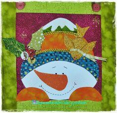Aplicacion Muñeco de Nieve Block Patterns, Pattern Blocks, Sign Sign, Let It Snow, Snowman, Creations, Quilting, Merry, Christmas Ornaments