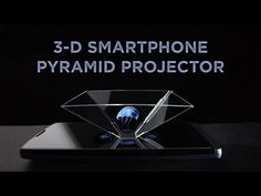 Project Hologram-Like Images from Your Smartphone! This inverted pyramid made of thin, clear plastic creates a fantastic illusion that allows you to create w. Science Toys, Plastic, Technology Gadgets, Hologram, Illusions, 3 D, Random Stuff, Smartphone, Create
