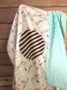 Baby boy soft blanket teepee indian summer by whitewillowkids