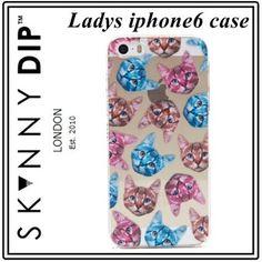 SKINNYDIP モバイルケース・アクセサリー 可愛すぎる!かわいい猫さん iphone6ケース skinnydip 即納