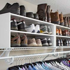 How You Organize an Overflowing Closet THIS Is How You Organize an Overflowing Closet Vacuum Removes Mites Even 3 Thick Layers Away 7 Closet Organization Tips You've Never Heard organized shoe closet Closet Shoe Storage, Small Closet Organization, Bedroom Organization, Pantry Storage, Organization Ideas For Shoes, Shoe Storage Hacks, Organizing Shoes, Apartment Closet Organization, Wardrobe Storage