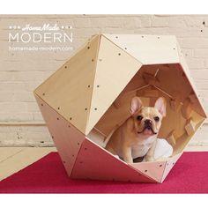 DIY Geometric Doghouse Tutorial